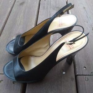 Charles jourdan paris black heelssz 7.5m